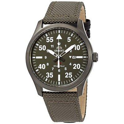 Orient FUNG2004F SP Flight Quartz Green Dial Green Leather Japan 50m Men's Watch