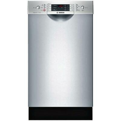 """Bosch 800 18"""" 44 DB Touch Control 6 Cycles Full Console SS Dishwasher SPE68U55UC"""