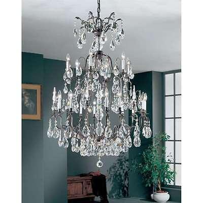 Antique Bronze Classic Crystal - Classic Lighting Versailles Crystal Chandelier, Antique Bronze - 9019ABC