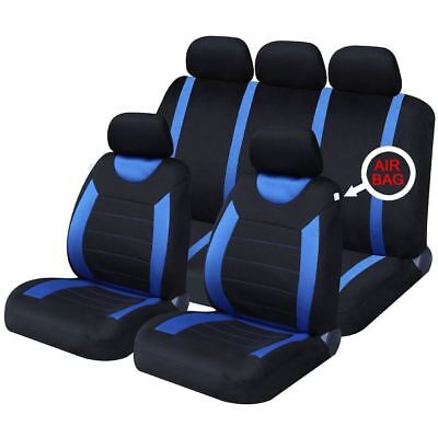 UKB4C Blue Full Set Front & Rear Car Seat Covers for Toyota Aygo 05-On