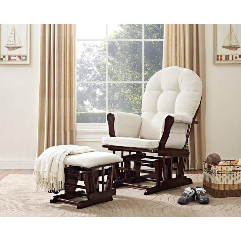 Glider Chair And Ottoman Nursery Rocking Furniture Baby Nursing Rocker Seat