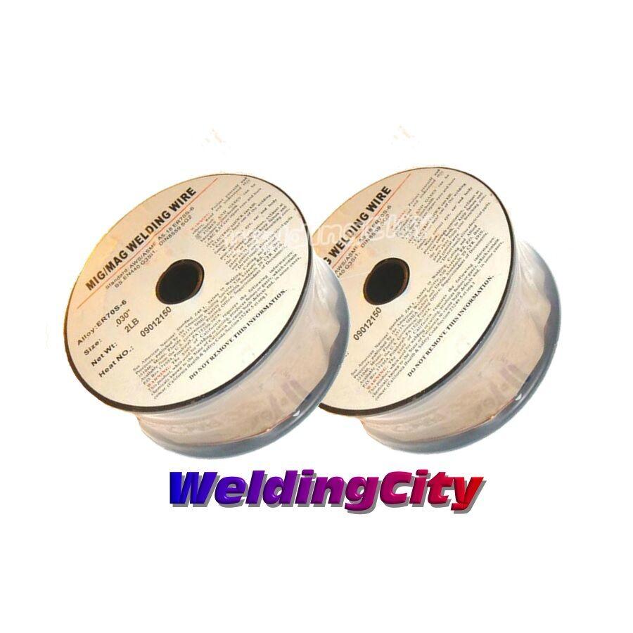 2 Rolls ER70S-6 .023 .030 .035 10-LB Spool Mild Steel MIG Welding Wire 1 Roll of .030 + .035