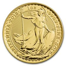 2018 Great Britain 1 oz Gold Britannia BU - SKU #157157
