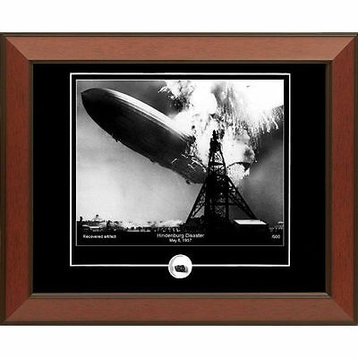 Hindenburg Disaster Print with Authentic Relic Piece of Wreck by Century Concept