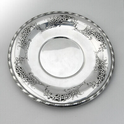Larkspur Sandwich Plate Pierced Wallace Sterling Silver 1939