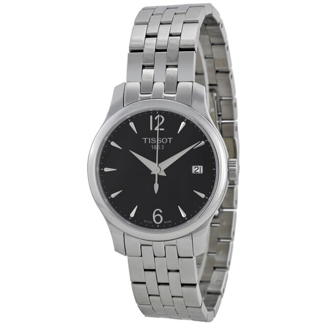 Tissot T-Trend Tradition Black Dial Stainless Steel Ladies Watch-AU