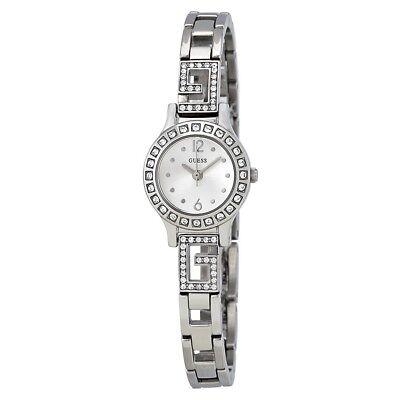 Guess Women's Darling Silver Tone w/ Swarovski Crystal Accent Watch - W0411L1