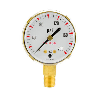 2 X 200 Psi Welding Regulator Repair Replacement Gauge For Oxygen