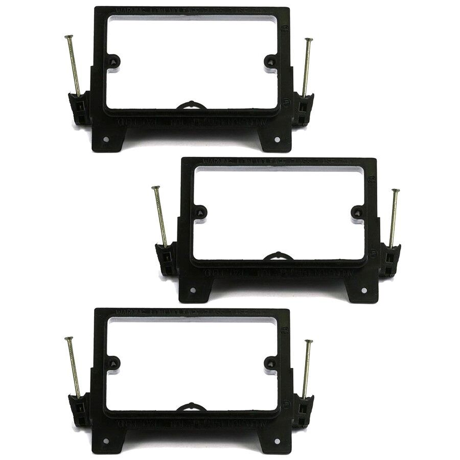 3x Low Voltage 1 Gang Mount Bracket Wall Plate Nail In