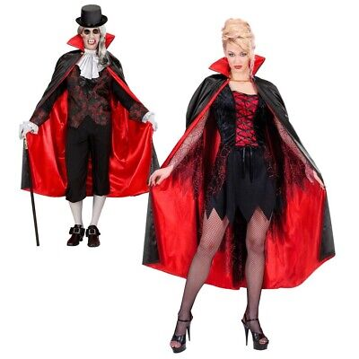 VAMPIR UMHANG Halloween Party Karneval Kostüm Skelett Teufel Dracula # 3586