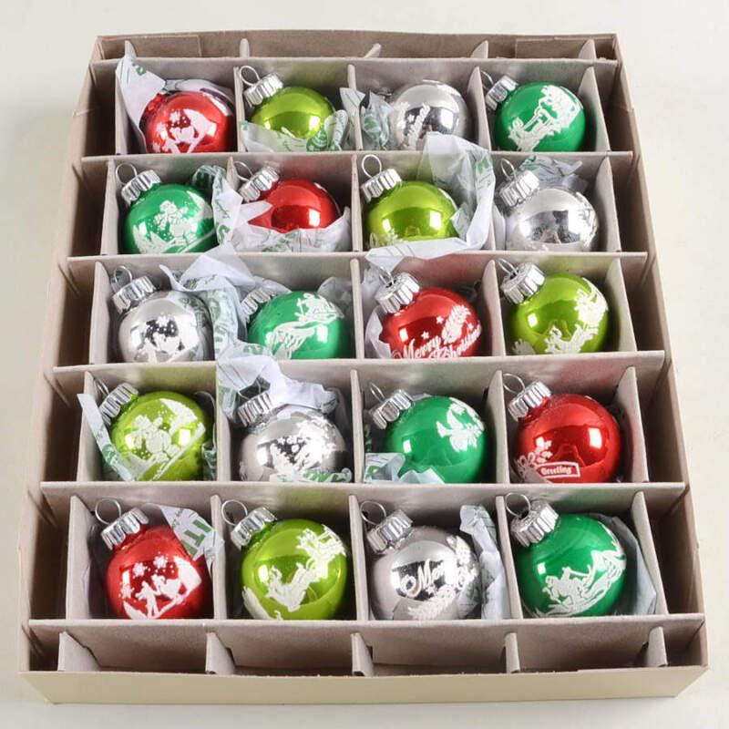 Christopher Radko Shiny Brite Ornaments Signature Flocked Rounds-Holiday