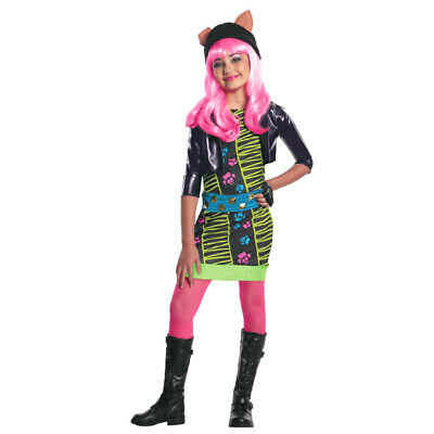 KINDER MONSTER HIGH HOWLEEN WOLF KOSTÜM # Halloween Karneval Kleid Tier Party