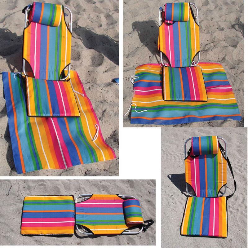 Beach Chair Backpack Portable Mat Lounger lightweight 1.5 lb aluminum camping