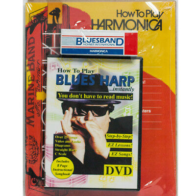 Hohner How To Play Blues Harp... Instantly! DVD Book & Hohner Harmonica, New!