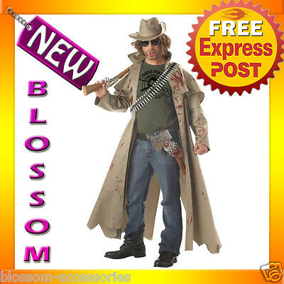 C108 Zombie Hunter Slayer Hero Fancy Dress Halloween Adult Costume