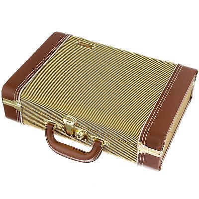 Fender Mississippi Saxophone Tweed Harmonica & Utility Case, New!