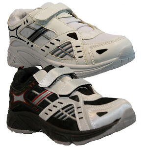 NEW-BOYS-KIDS-SHOES-INFANT-GIRLS-VELCRO-SKATE-TRAINERS-BACK-TO-SCHOOL-SIZE10-2