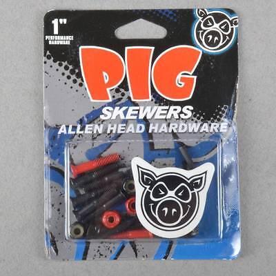 "Pig Wheels Pig Skewers Allen Key Skateboard Truck Bolts 1"""