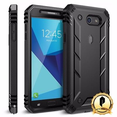Poetic Samsung Galaxy J7 2017 Case With Built-In Screen Protector Cover Black