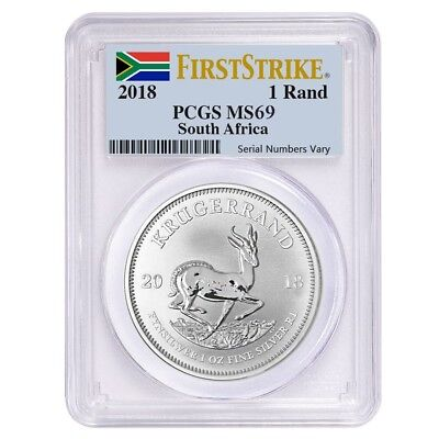 Sale Price   2018 South Africa 1 Oz Silver Krugerrand Pcgs Ms 69 First Strike