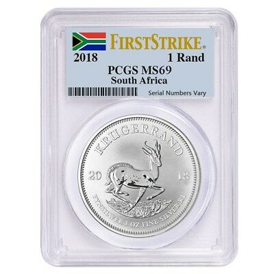2018 South Africa 1 Oz Silver Krugerrand PCGS MS 69 First Strike - $19.50