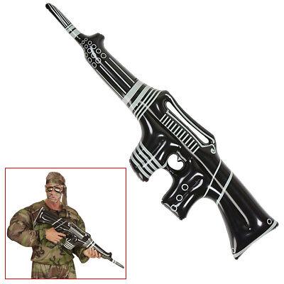AUFBLASBARES MASCHINENGEWEHR Gewehr MG Soldat Armee Gangster Kostüm Party - Gangster Kostüm Requisiten