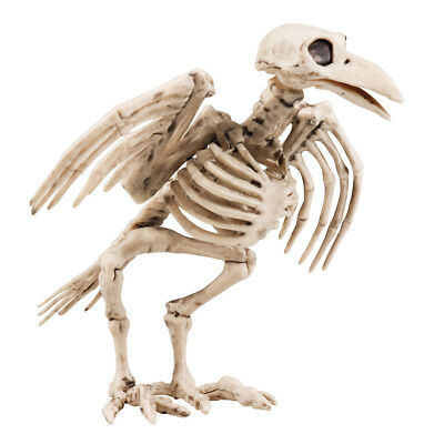 DEKO KRÄHEN SKELETT # Halloween Grusel Horror Party Vogel Knochen Gerippe 72093 ()
