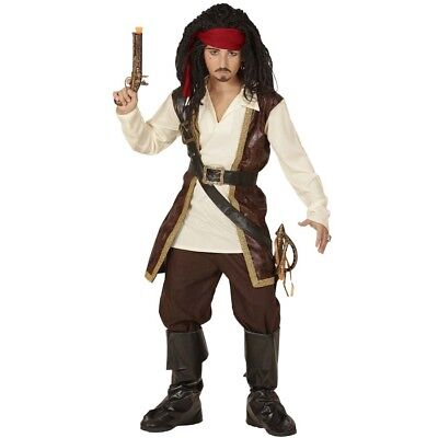 DELUXE KINDER PIRATEN KOSTÜM Karneval Jungen Mittelalter Karibik Seeräuber - Deluxe Pirat Kind Kostüm