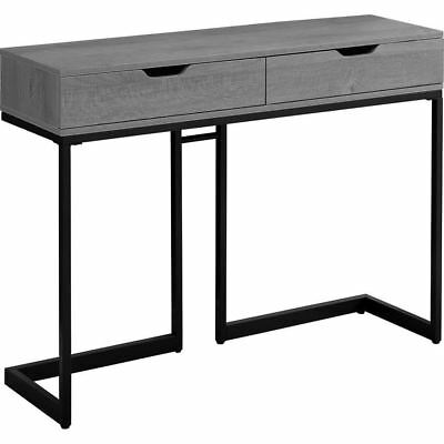 "Monarch Specialties I 3519 Accent Table 42""L Grey Black Metal Hall Console"