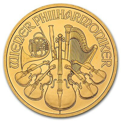 1 Oz Gold Austrian Philharmonic Coin Random Year   Sku  85597
