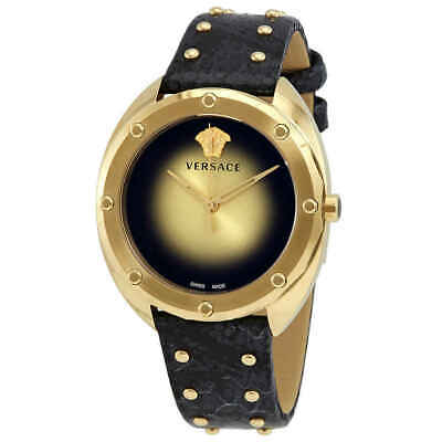 Versace Shadov Quartz Champagne Dial Ladies Watch VEBM00318