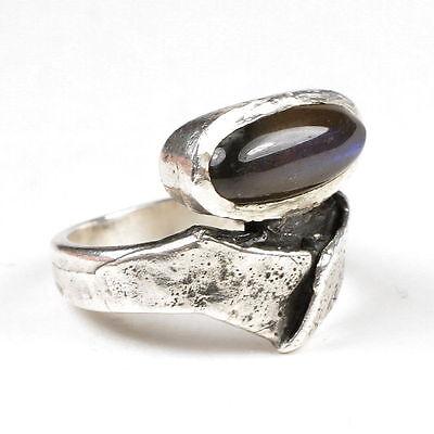 Monika & Burkhard OLY: Vintage STERLING-Ring mit SPEKTROLIT 925 Silber