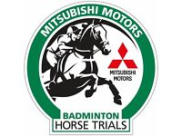 Earn up to £400 @ *Badminton Horse Trials* 4 – 7th May 2017
