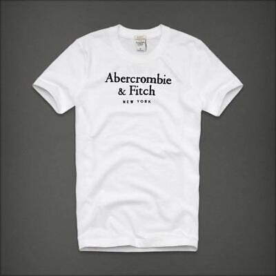 Abercrombie Men by Hollister Sueded Cotton T-Shirt White S, M, L, XL, XXL