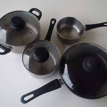 Set of pans + frying pan IKEA with lids Paddington Eastern Suburbs Preview