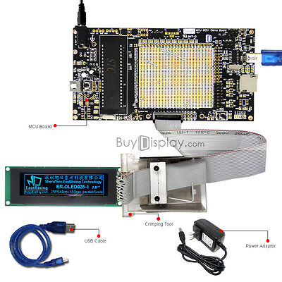 8051 Microcontroller Development Board Kit Usb Programmer For 2.8oled Display
