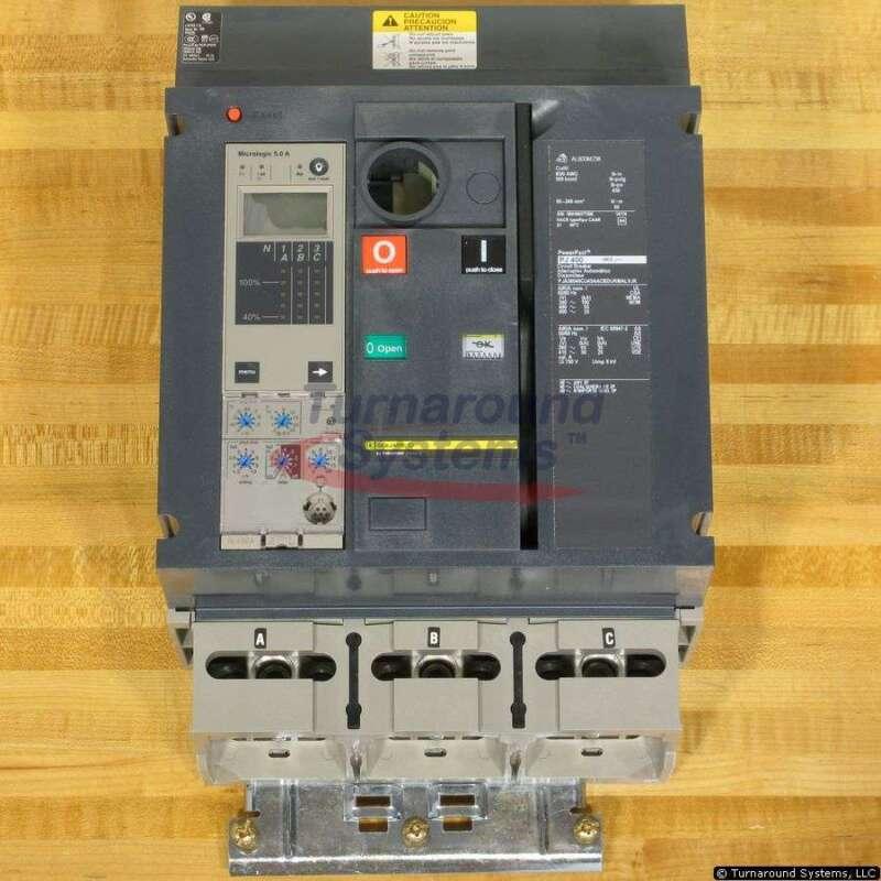 Square D Pja36040cu43aacbdukmalvjk Circuit Breaker, 400 Amp, 65 Kair, New!