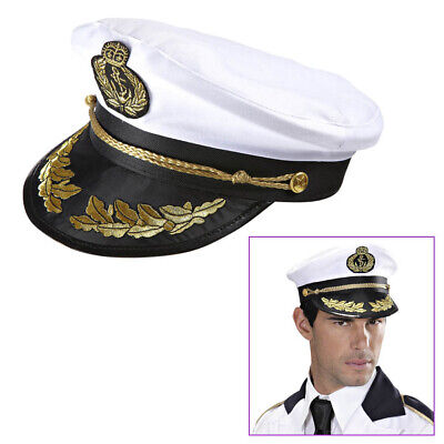 KAPITÄN HUT Karneval Fasching Marine Offizier Admiral Seemann Kostüm Mütze  - Kapitän Hut Kostüm