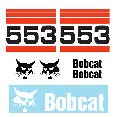 Bobcat 553 Skid Steer Set Vinyl Decal Sticker - Aftermarket