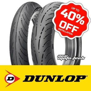 ██ LOWEST PRICE - GUARANTEED ██ Dunlop Elite 4 Tires - Gold Wing