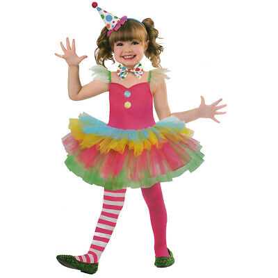 CLOWN KOSTÜM KINDER Karneval Fasching Kleid Tutu Mädchen Gr. 122/128 /134 # 2982 ()
