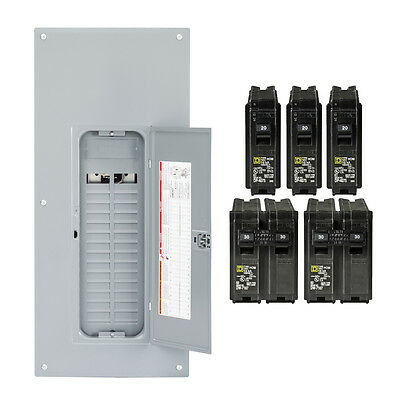 Square-d Homeline 225-amp 30-space 60-circuit Indoor Main-breaker Panel Box Load