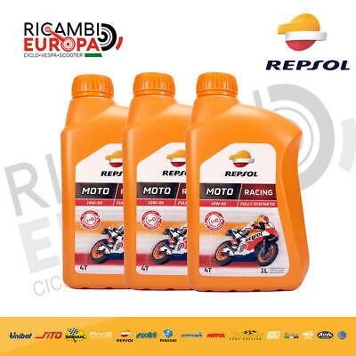 3Lt Litros Aceite Original REPSOL Moto Racing 10W50 4T Sintético 100% MA2