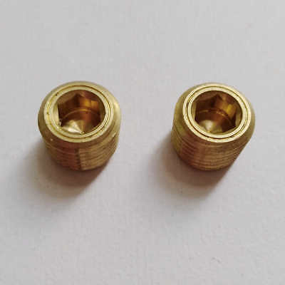2pcs 18 Brass Bsp Bspt Pipe Thread Allen Head Plug Us Stock B174