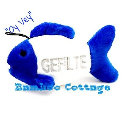 Multipet Dog Puppy Toy Look Whos Talking Gefilte Fish says Oy Vey! NEW