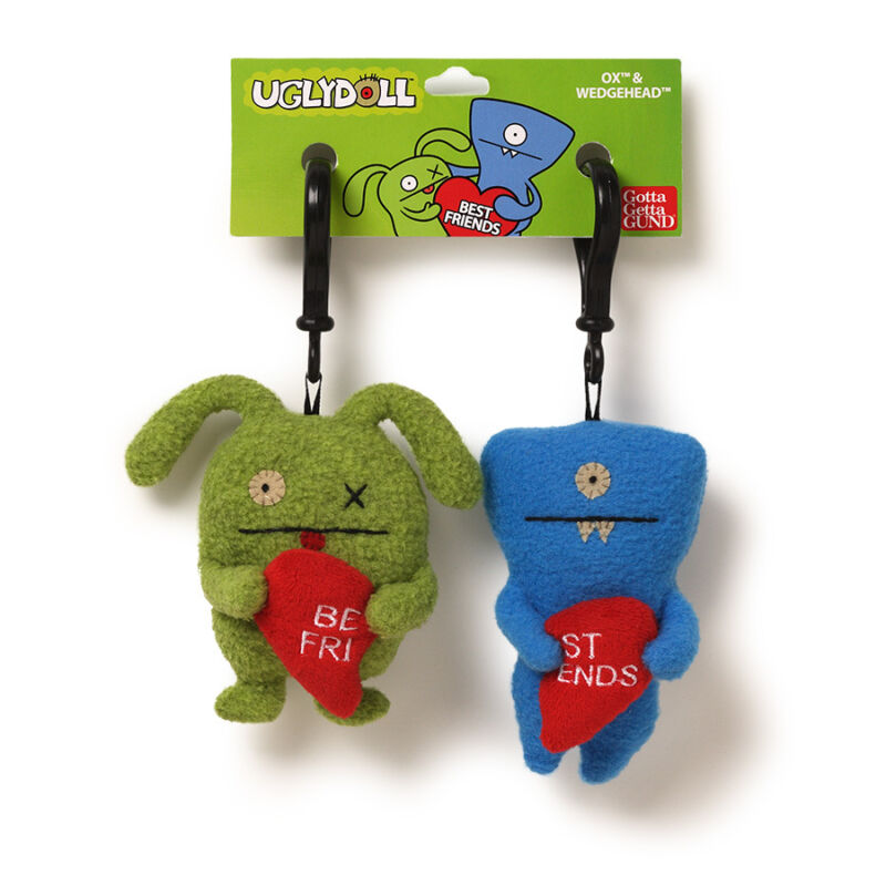 OX and Wedgehead Best Friend Valentine Heart Clips 4037584 New Uglydoll