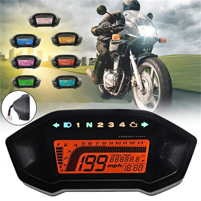 Multifunction Motorcycle Gauge Speedometer Tacho Odo Gear Fuel Lamp Indicator for sale  China