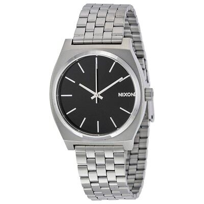 Nixon Time Teller Black Dial Stainless Steel Link Quartz Mens Watch A045 000