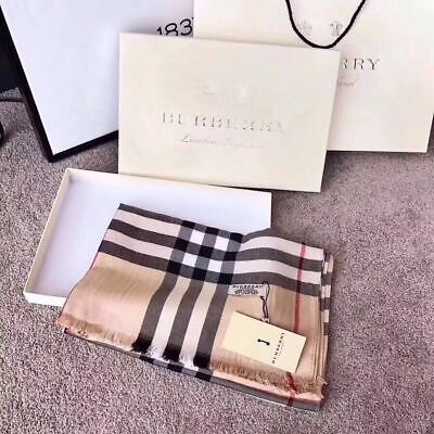 BURBERRY SCARF LARGE PONCHO 100% CASHMERE AUTHENTIC BLACK BEIGE SHAWL