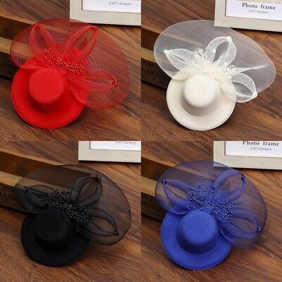 Hair Clip Lace Mini Top Hat Fascinator Wedding Party Cocktail Fancy Dress (Top Hat Fascinators)